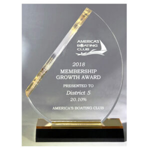 Sail Acrylic Award for America's Boating Club from C. P. Dean