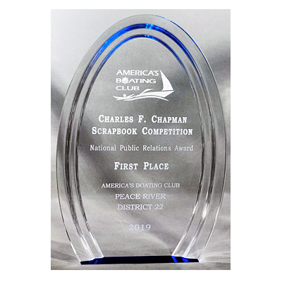 Halo Acrylic Award for America's Boating Club from C. P. Dean