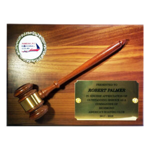 Americas Boating Club PC Gavel from C. P. Dean