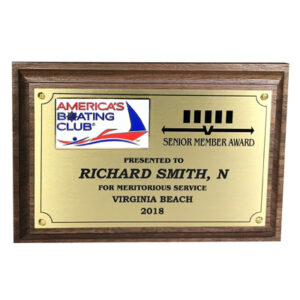 Senior Member Plaque for America's Boating Club from C. P. Dean