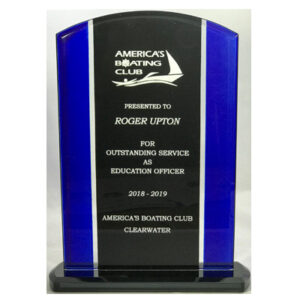 Round Top Glass Award for America's Boating Club from C. P. Dean